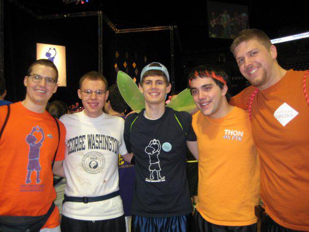 L to R:  Jared Case, Kent Rentschler, Mitch Hulderman, Nick Geyer and Sean Haggerty2010 Dance Marathon