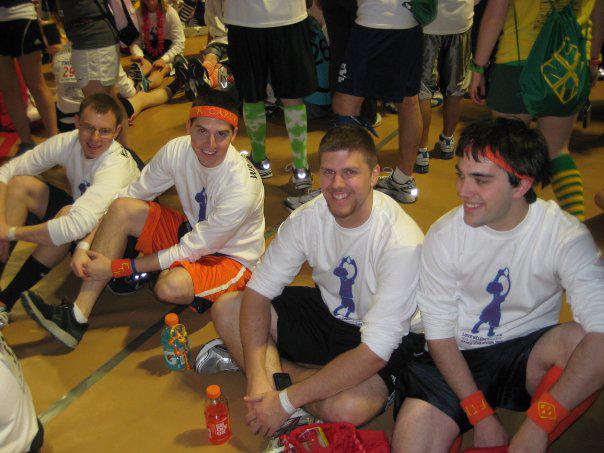 L to R: Kent Rentschler, Jared Case, Sean Haggerty and Nick Geyer2010 Dance Marathon