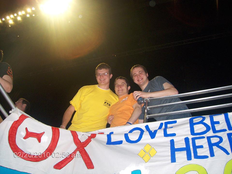 L to R: Collin Scheible, Jasen Marshall and Joseph Aranowski2010 Dance Marathon