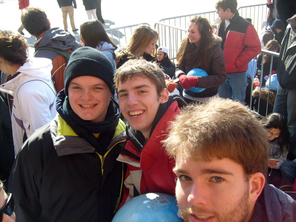 L to R: Collin Scheible, Kent Bare and Daniel Cartwright2010 Dance Marathon