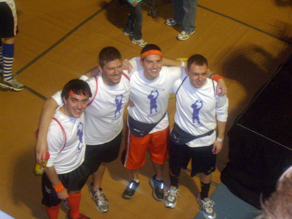 L to R:  Nick Geyer, Sean Haggerty,  Jared Case and Kent Rentschler2010 Dance Marathon