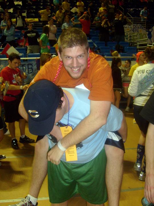 Mike Garman (bottom) and Sean Haggerty (top)2010 Dance Marathon