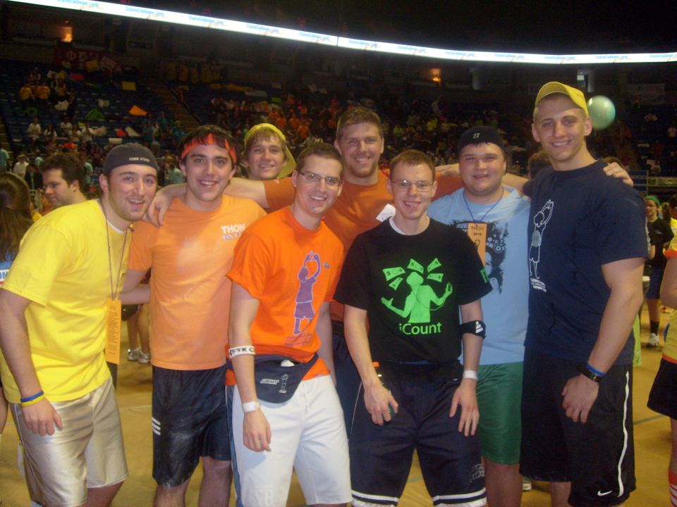 L to R: Ed Benish. Nick Geyer, Aaron Speagle,  Jared Case, Sean Haggerty, Kent Rentschler, Mike Garman and Brent Homcha2010 Dance Marathon