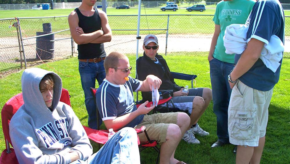 L to R: TK, James Patterson and TKK.I.C.K.S. Soccer Tournament
