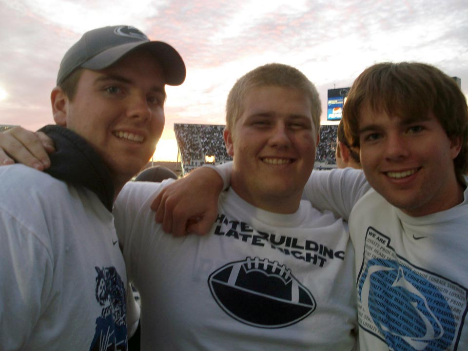 L to R: Jason Clark, Daniel Weinman and Daniel Cartwrightat the Michigan Game, Oct. 18, 2008