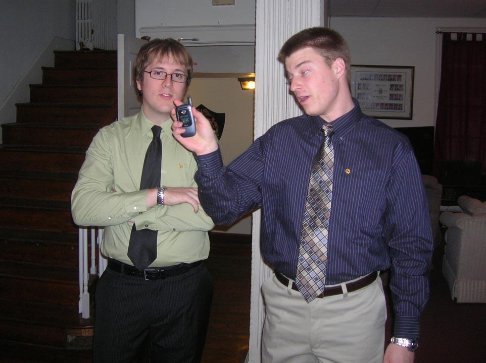 John McCrindle (L) and Jared Metzgerat New Member ceremony
