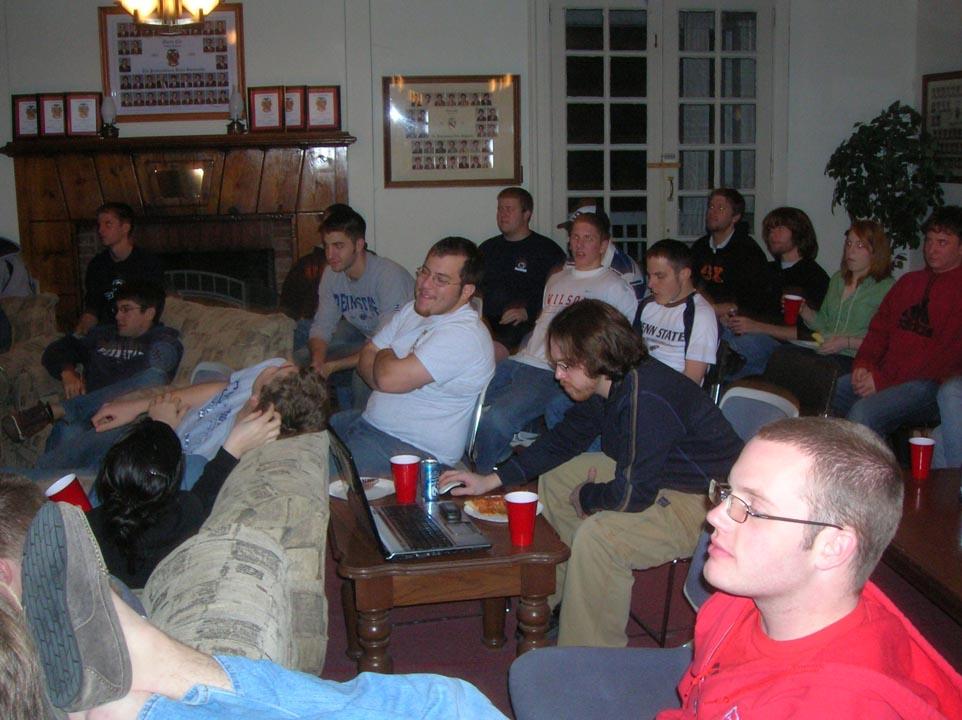Andrew Bott, Rob McHugh, Travis Pulling, Daniel Weinman, Thomas Heffner, Matthew Cook, Jared Marshall, James PattersonSuper Bowl party