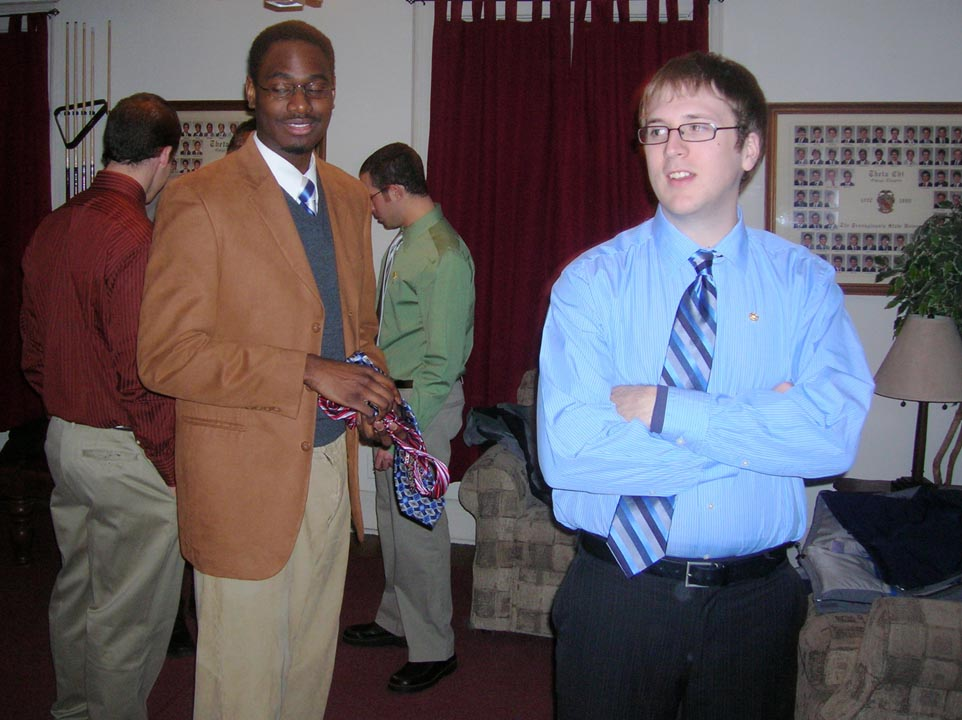 LeShawn Haynes (L) and John McCrindle
