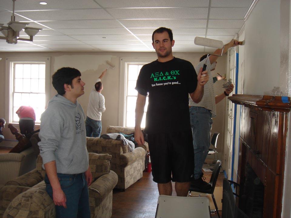 James Nasralla (L) and Jeff Kranzelat Alumni Work Weekend