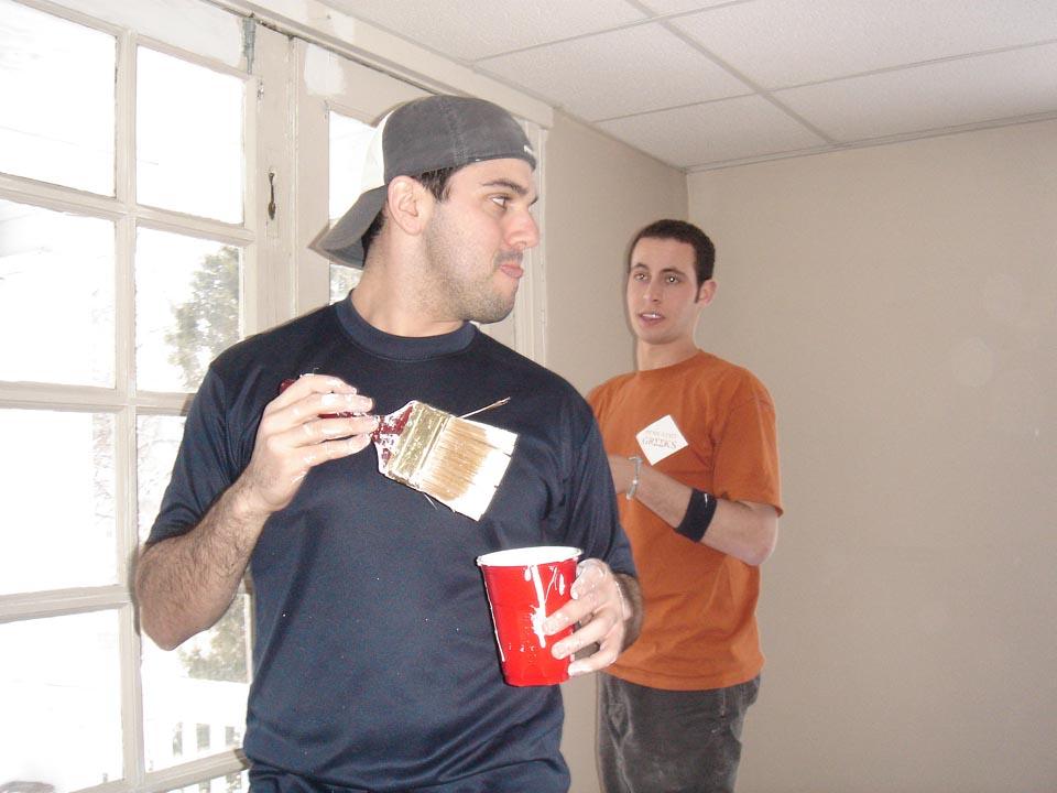 Matthew Schwartz (L) and Jason Chottinerat Alumni Work Weekend