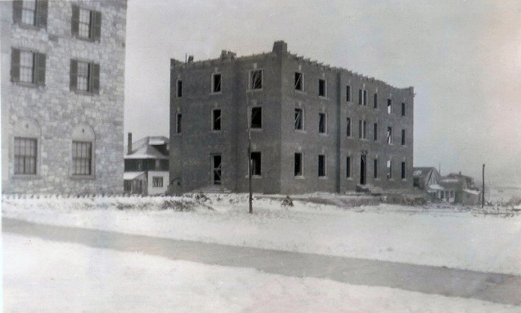 523 South Allen - Constructionthree stories, minus roof topping, cornice, etc.Dec. 1, 1929