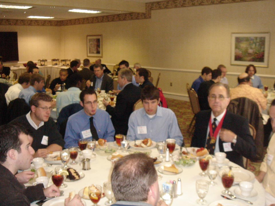 L to R: Chris Zegar, Jason Chottiner, Andrew Bott and Ronald Ramos - National Chaplin, Gamma Theta '68