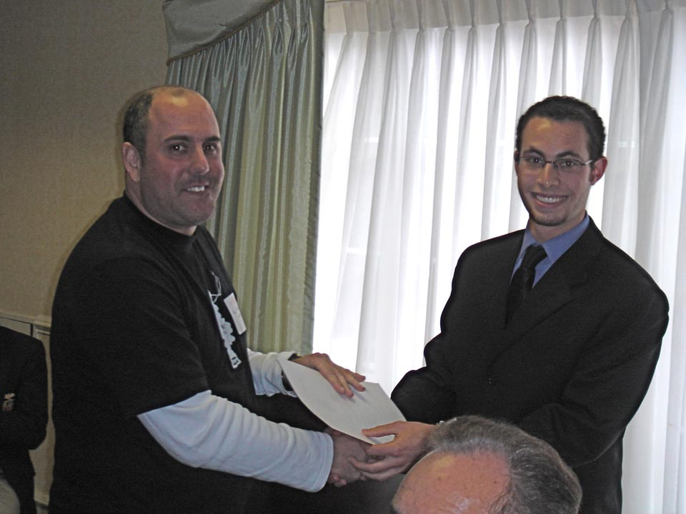 Richard Maltz receives Citation of Honor from Jason Chottiner