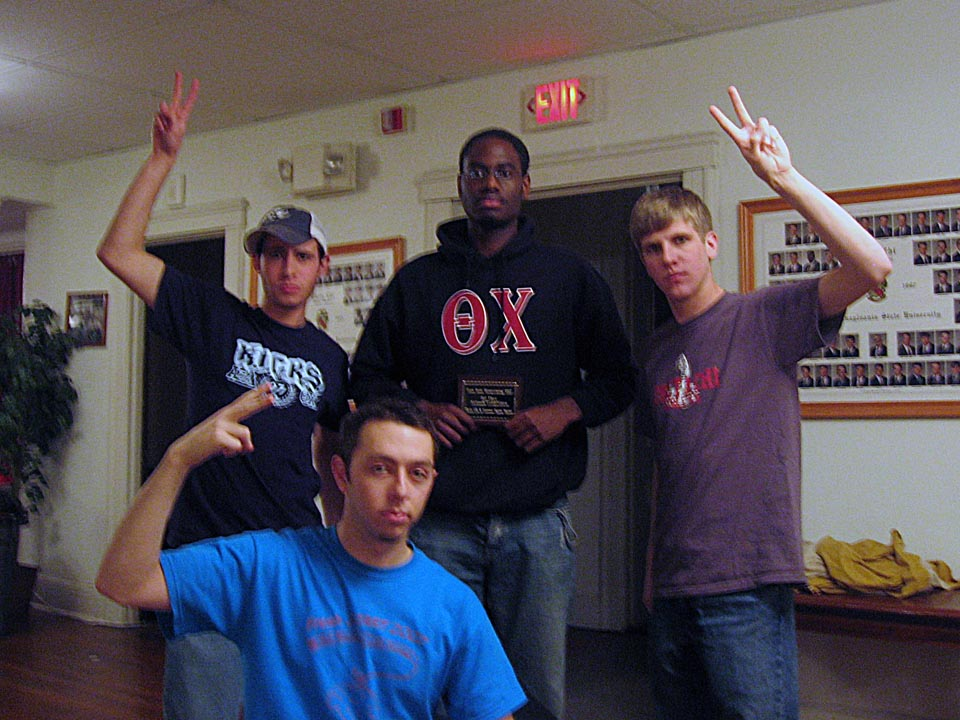 left to right: Jason Chottiner, David Krisch, Leshawn Haynes and David Hartwich