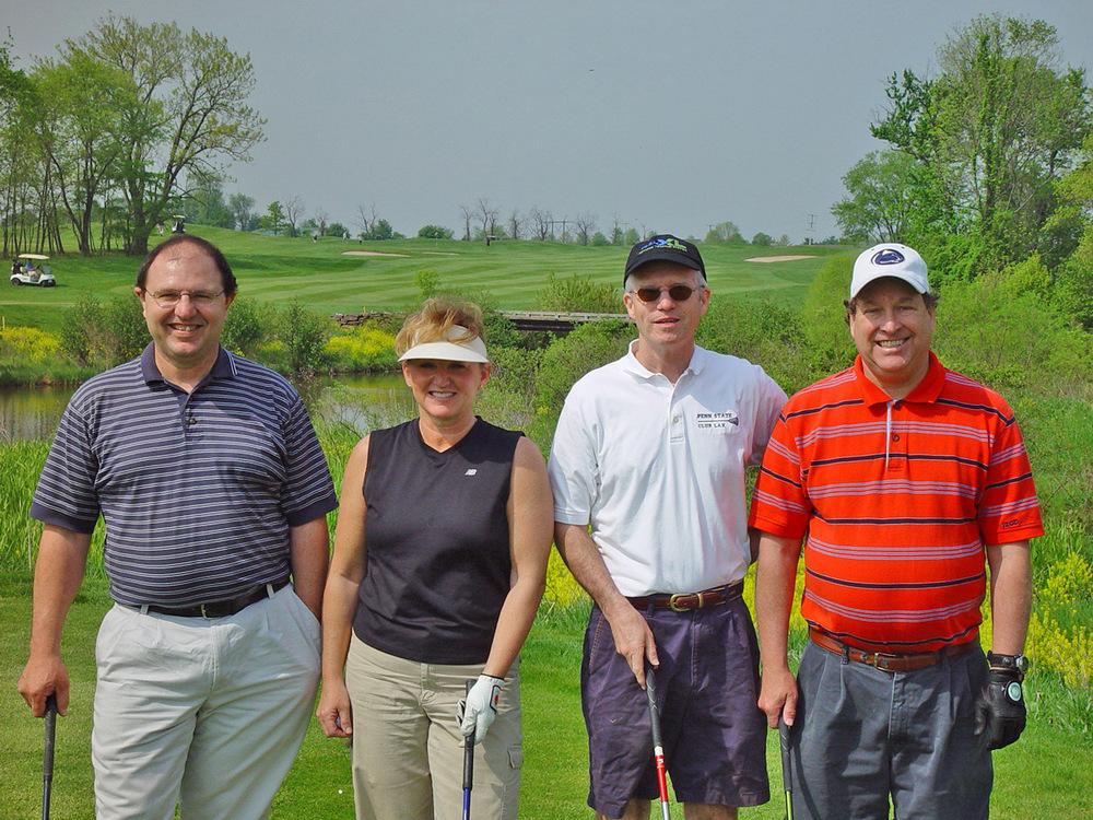 L to R: Robert Mooney '78, TK, TK and TK2006 Theta Chi Golf Openphoto courtesy Edward Beidel