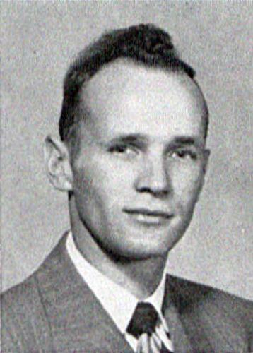 Robert Clarke's 1950 Graduation Photoas in LaVie Yearbook
