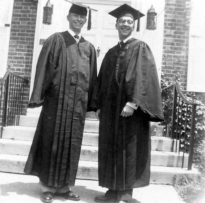 Tom Morton (L) and George EyrichGraduation 1953photo courtesy Thomas Morton '53