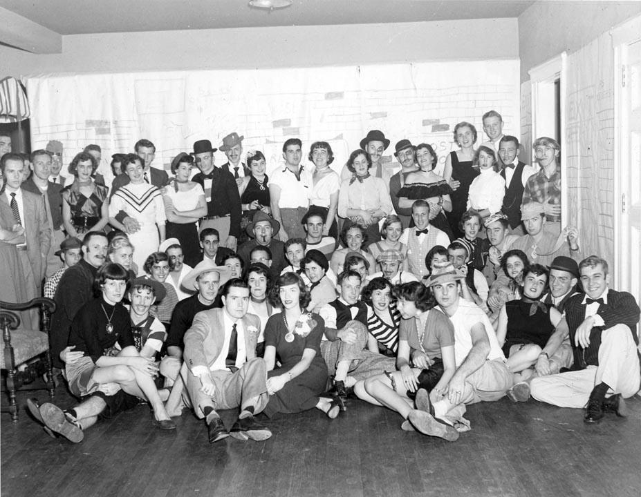 Bowery Brawl House Party1952photo courtesy Thomas Morton '53