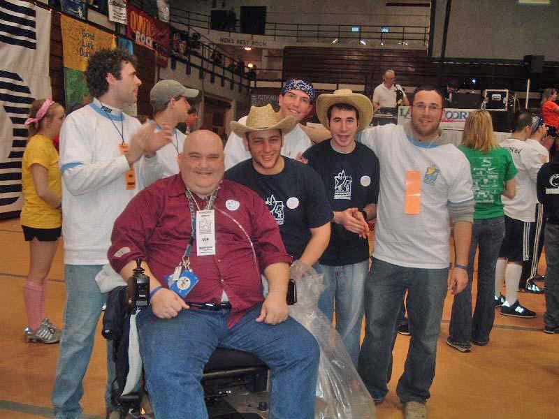 L to R: Dan Gregory, Mark Outland, Matt Factor, Scott Harding, Avi Sadiky and Jacob Wolf2005 Dance Marathon