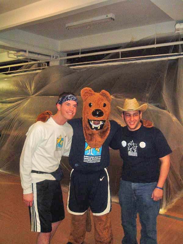 2005 Dance MarathonScott Harding, the Lion and Matthew Factor
