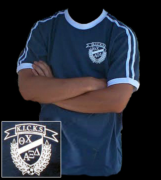 2009 K.I.C.K.S. Soccer Shirt - Alpha Epsilon Delta and Theta Chi
