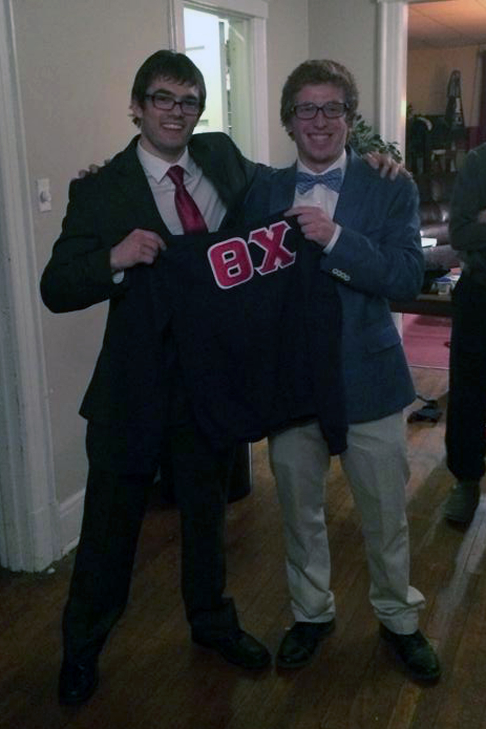 Brandon Roberts and Connor DeKranis - Spring 2014 Initiation Night - April 2014