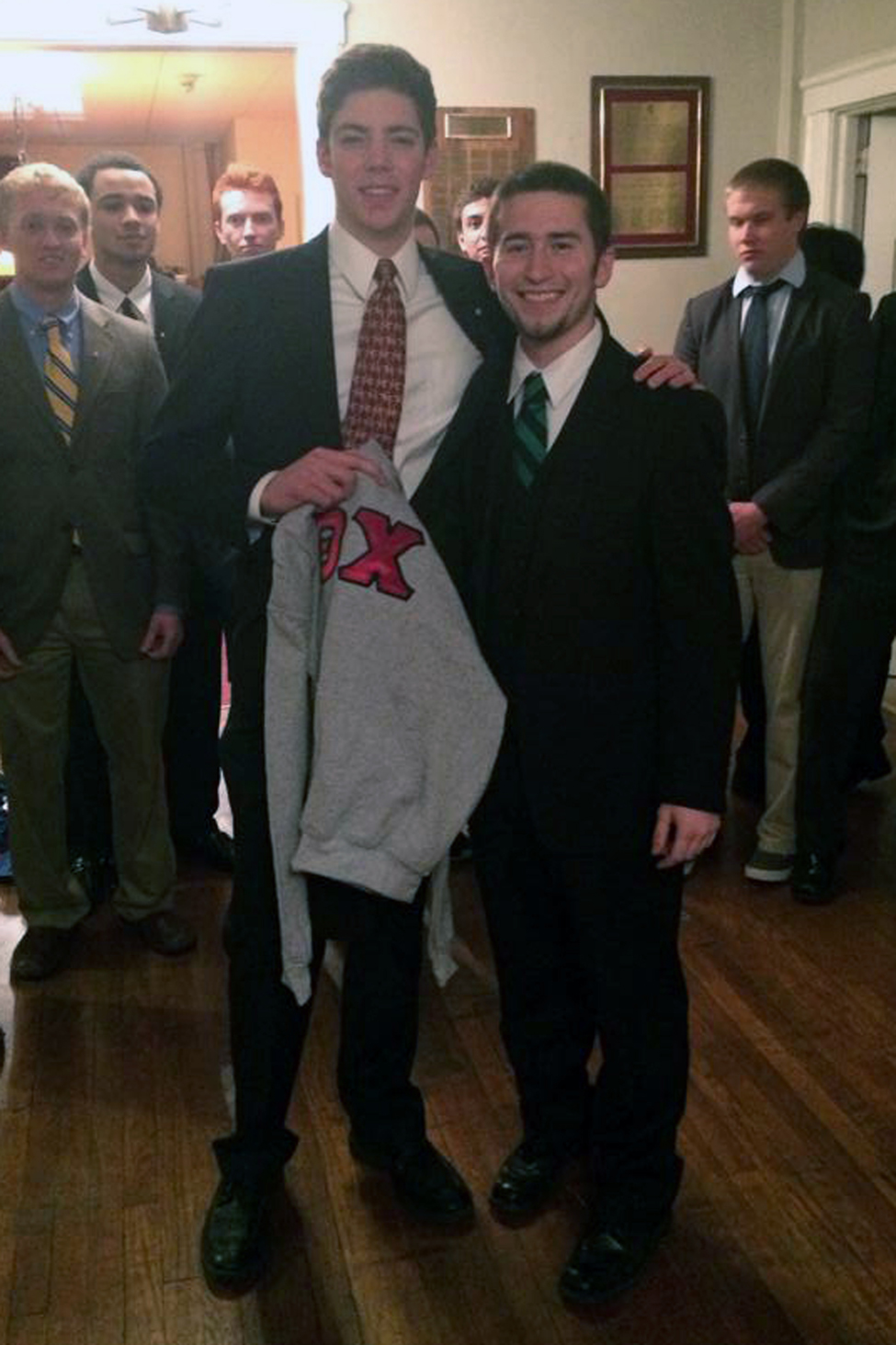 CJ Winand and Sam Kulp - Spring 2014 Initiation Night - April 2014