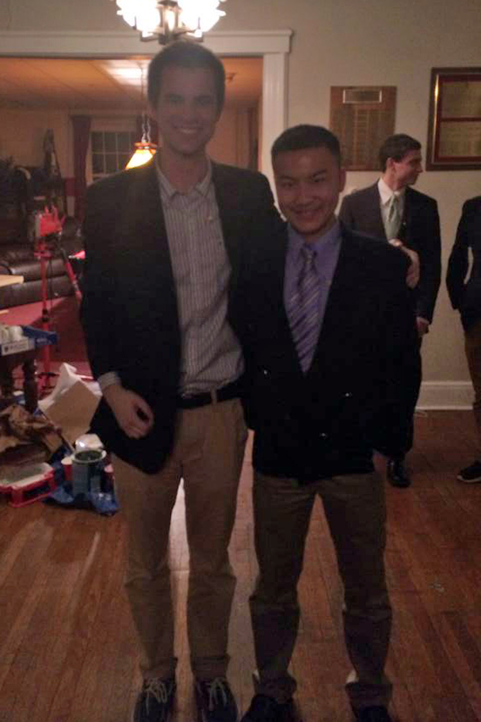 Brian Patchett and John Lin - Spring 2014 Initiation Night - April 2014
