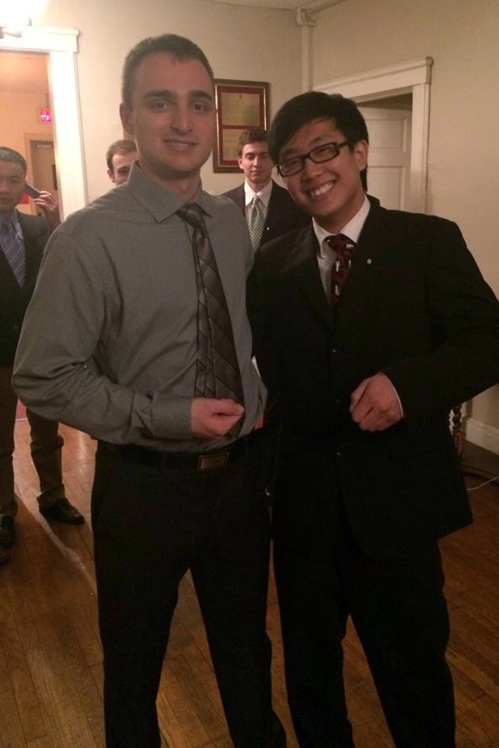 Alex Patton and Johnny Kwon - Spring 2014 Initiation Night - April 2014