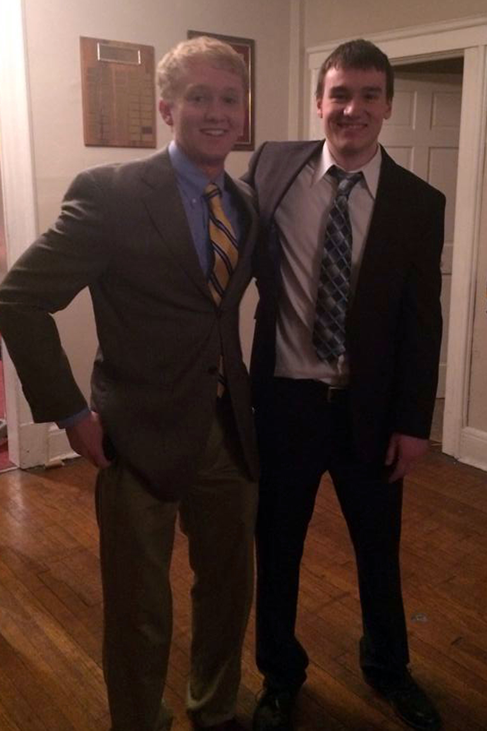 Patrick Hilling and Mark Joyce - Spring 2014 Initiation Night - April 2014