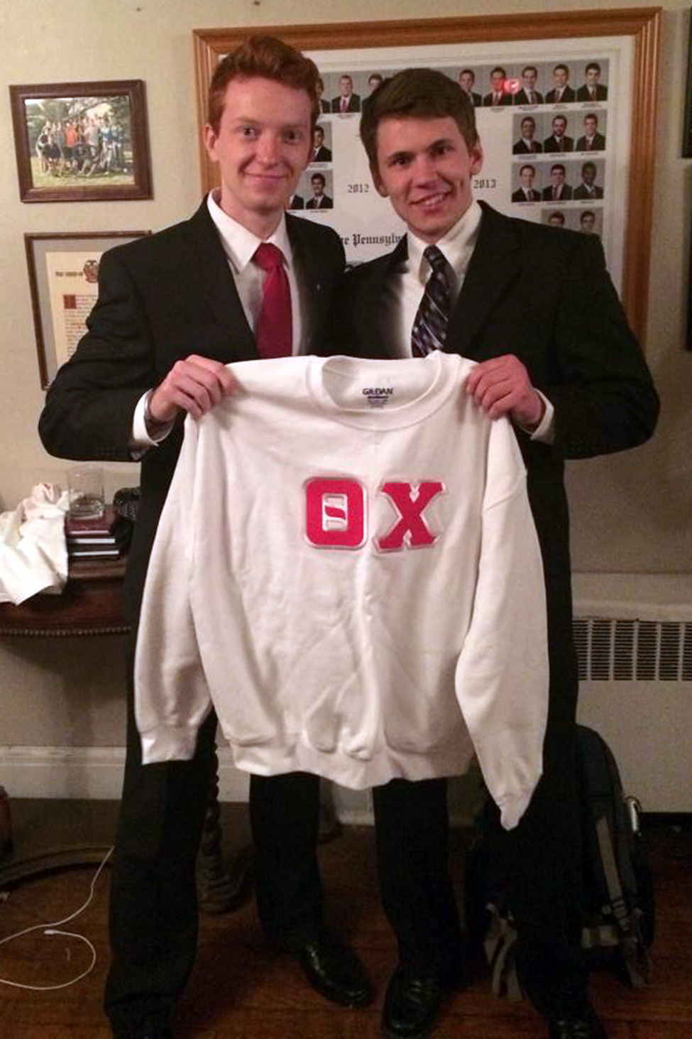 Ryan Campbell and Edward Brand - Spring 2014 Initiation Night - April 2014