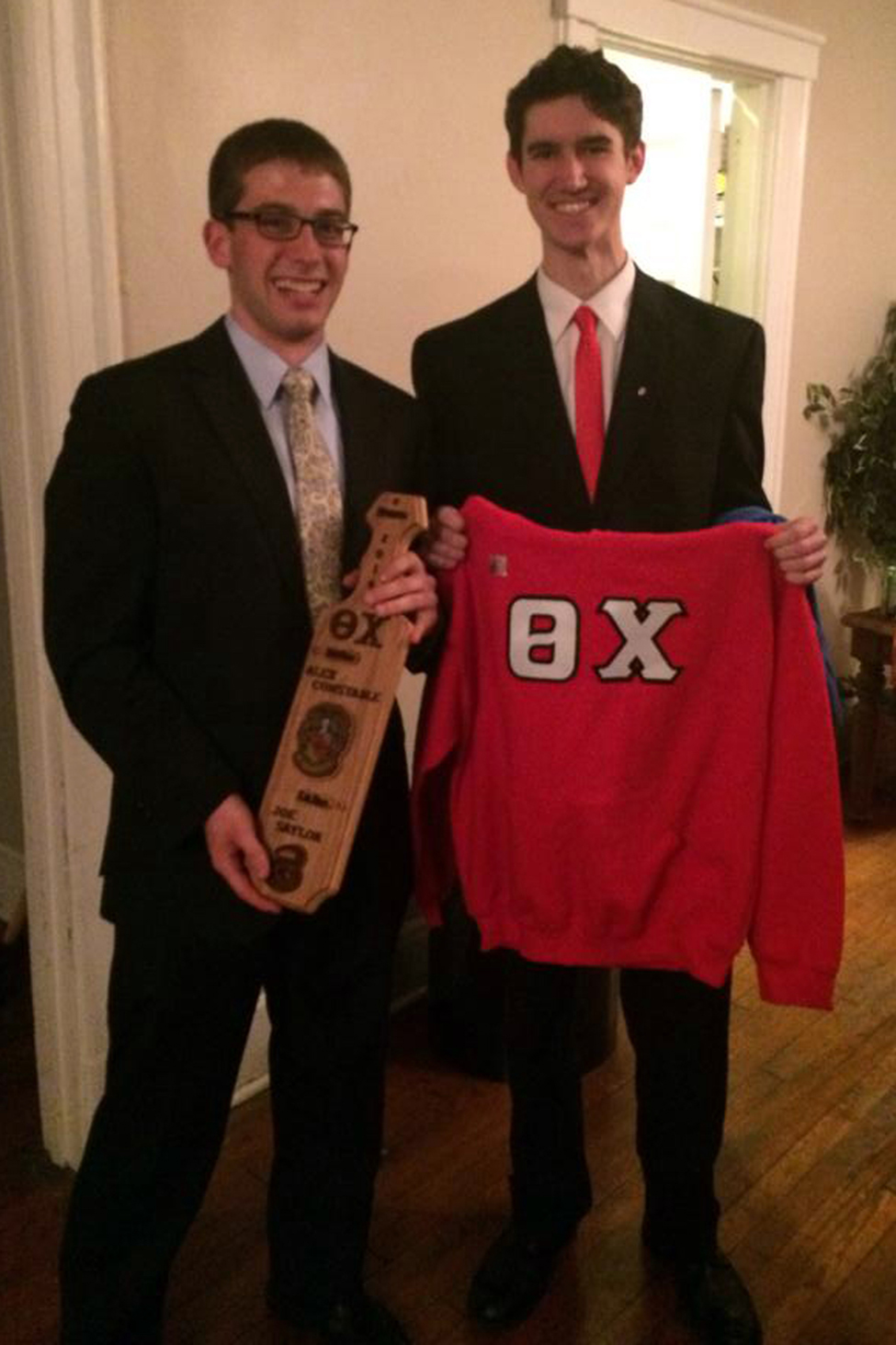 Alex Constable and Joey Saylor - Spring 2014 Initiation Night - April 2014