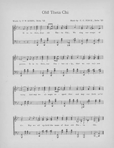 'It Is To Thee Dear Old Theta Chi' Sheet Music -  Download