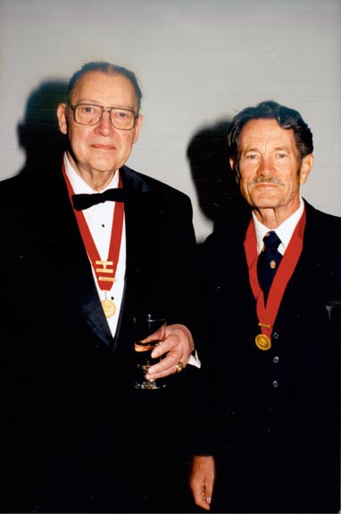 Howard Alter '41 (L) and William Renton '46 at the 75th Anniversary Celebration.