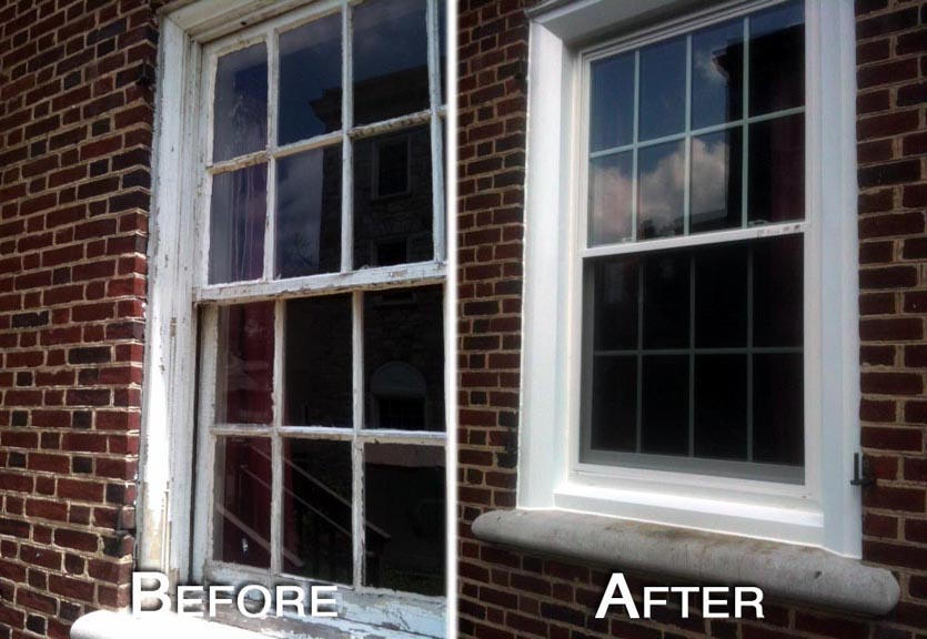 Windows before and after.