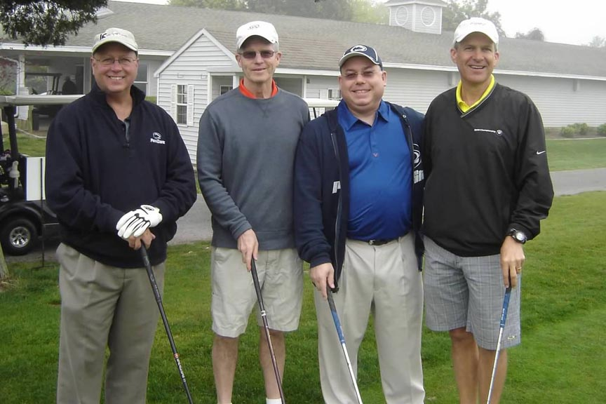 L to R: Rod Dare, Dave Matthews, Alan Vladimir, Bob Mausser at the 2012 Theta Chi Open.