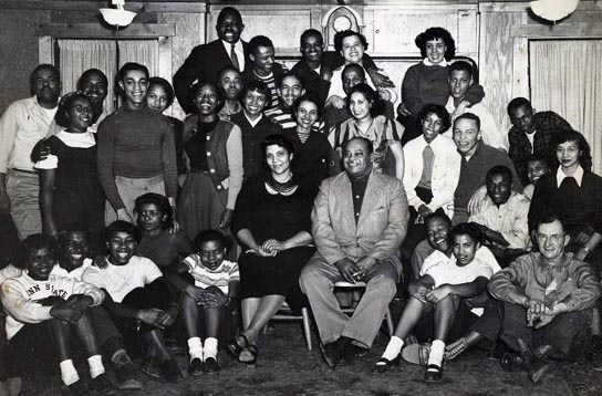 1949 – Agnes and Emanuel Gifford (seated) along with half of the Black students at Penn State College.