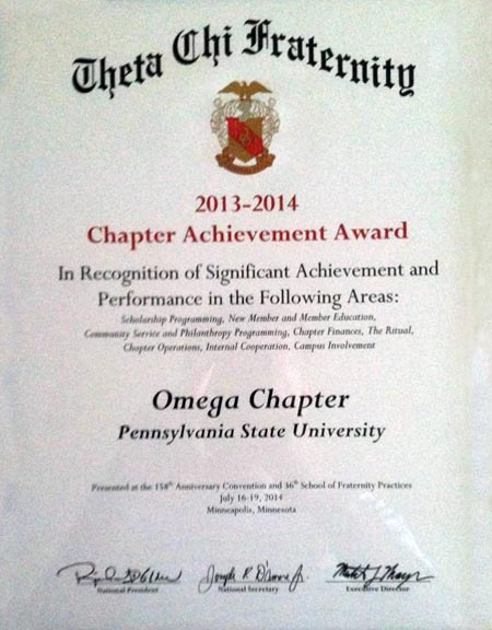 2013-14 Chapter Achievement Award