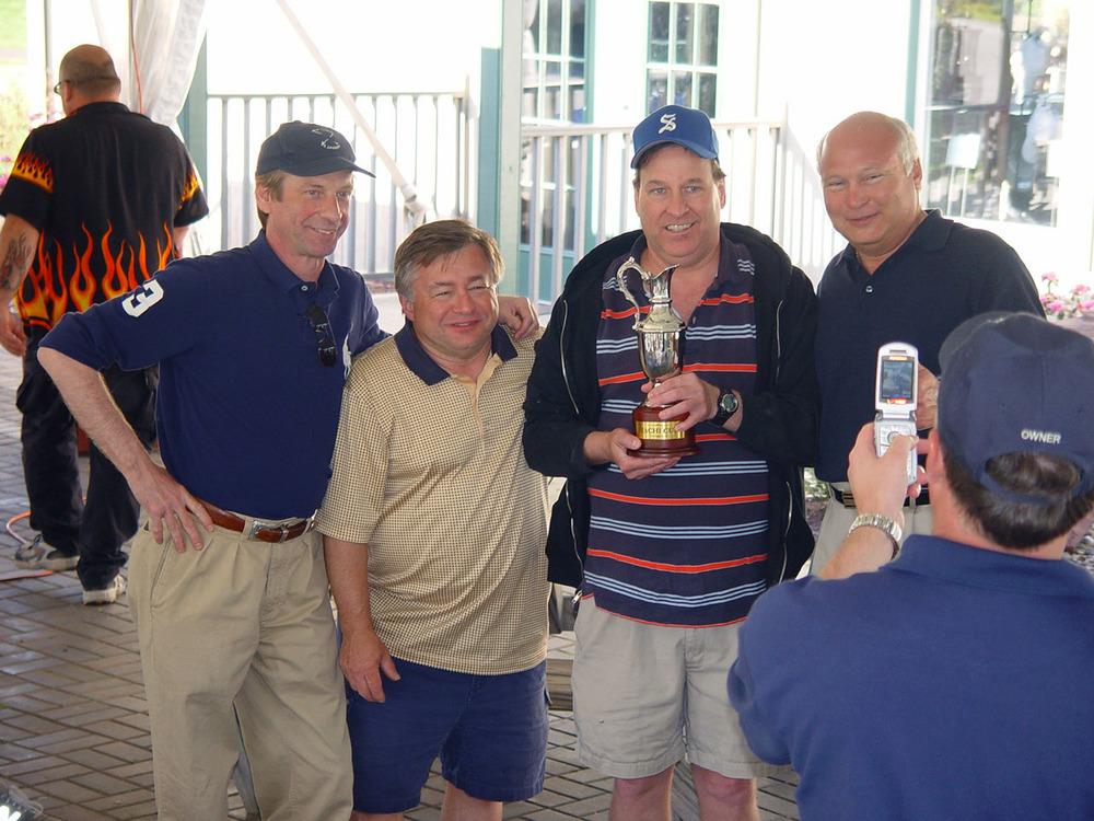 Tachi Cup Winners: Ken Oeschger '77, DennisHottel, John Loyle '76 and Dave Zovath '73-2007 Golf Open