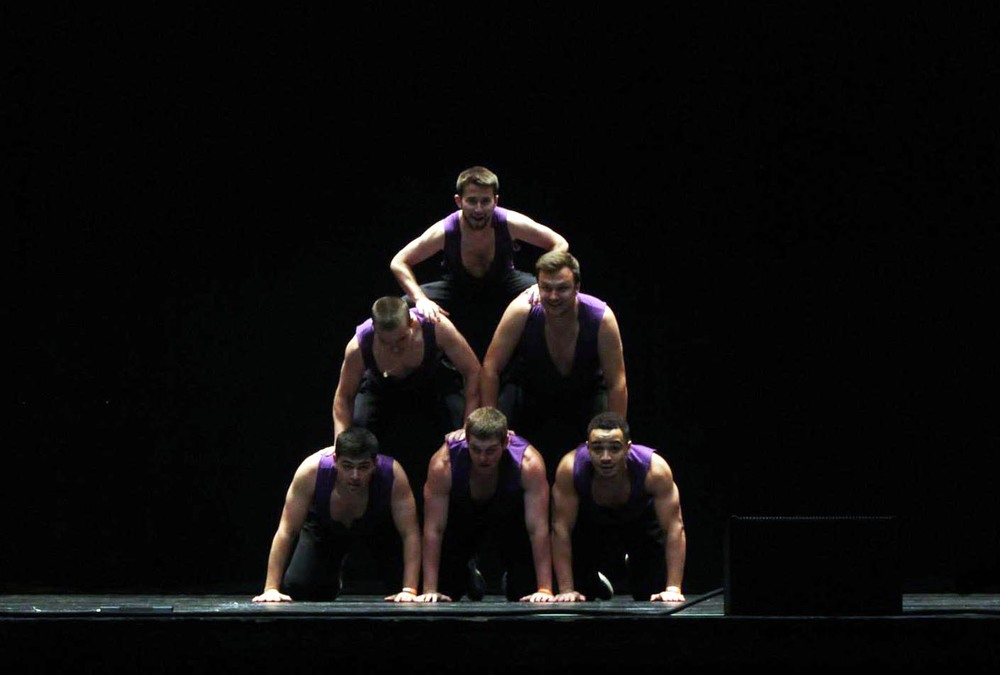 Zach Meharey, Frank Donato, Ryan Gattoni, Sam Kulp, Sam Shively and Michael Tapsoba - 2nd Place finish in Tuesday night's 2014 Homecoming For the Glory Talent Show competition