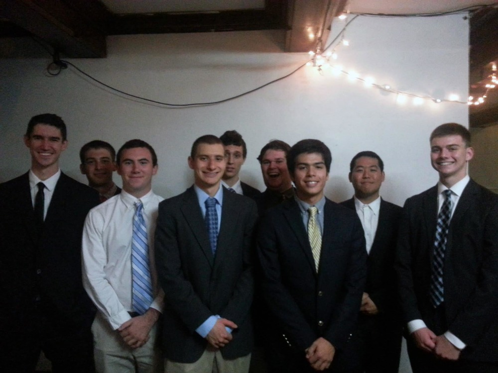 Fall 2014 - Big/Little Ceremony - Joey Saylor, Alex Constable, John Broderick, Derek Miller, Tyler Wood, Bradley James Nichols, Danny Lim and Patrick O'Brien