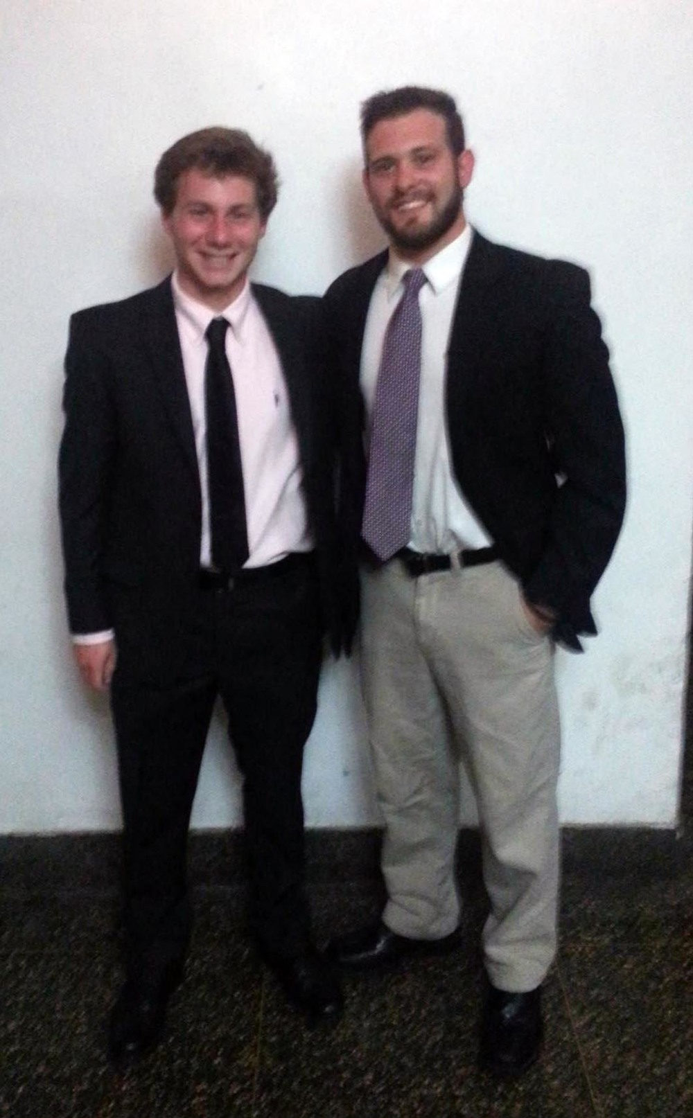 Fall 2014 - Big/Little Ceremony - Colin Kaye and Sean Curry