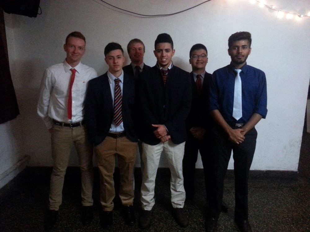 Fall 2014 - Big/Little Ceremony - Ryan Campbell, Esteban Andrade, Thomas Strnad, Luis Roman, Andrew Sie and Parangat Bhaskar