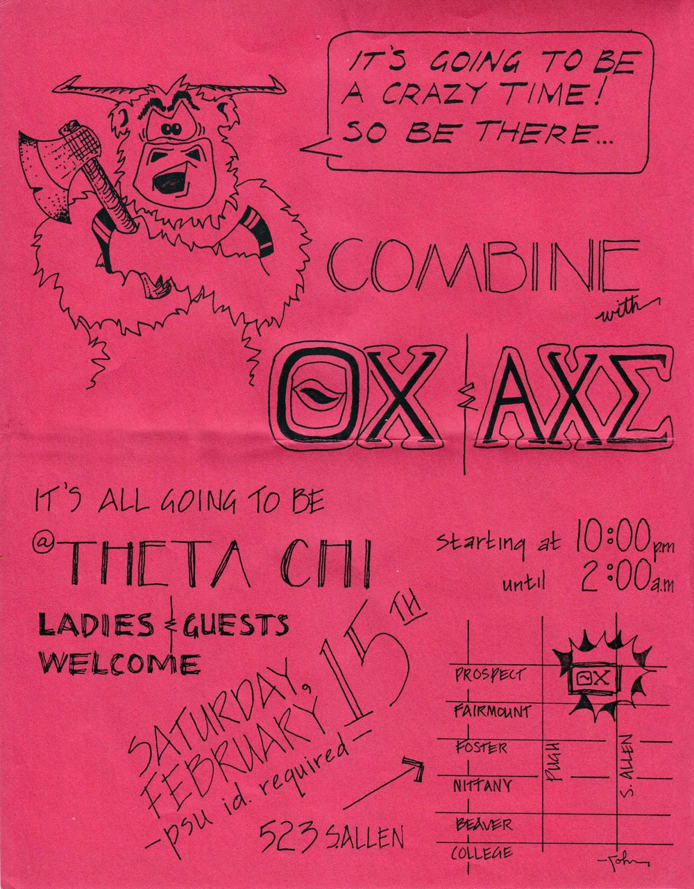 Combine Party Poster - Feb. 15, 1986