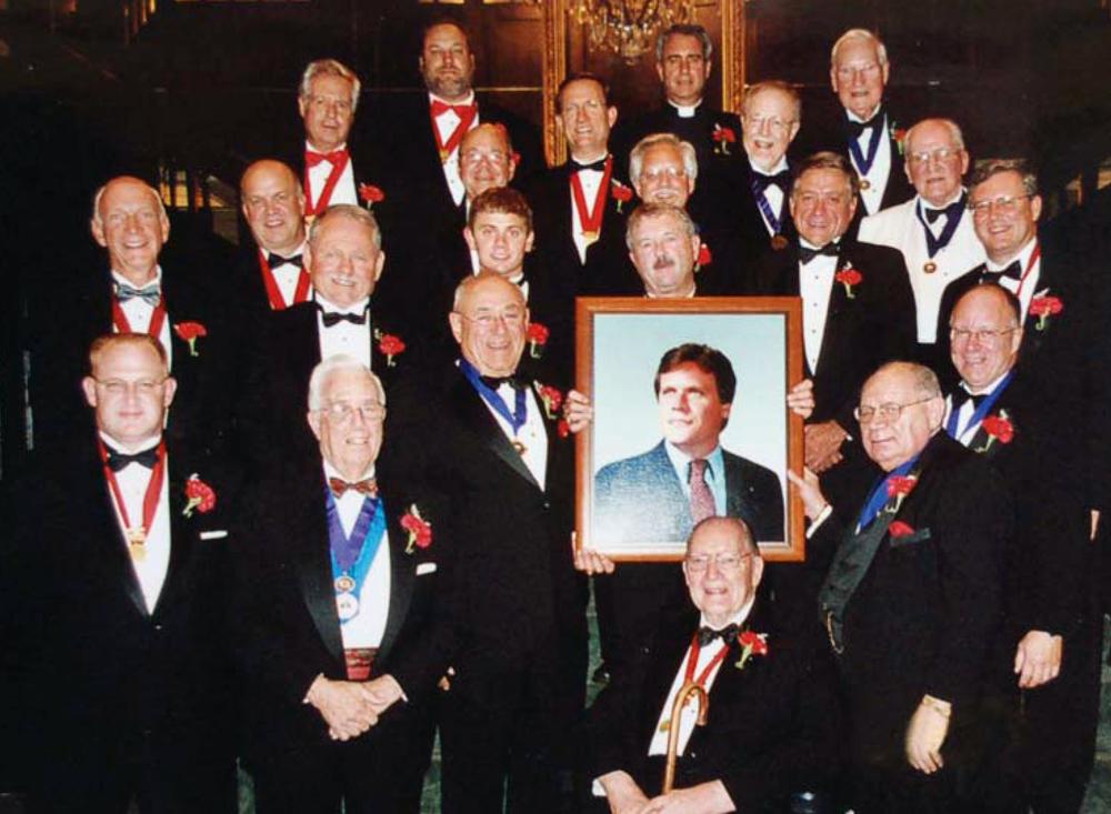 Interfraternal and alumnus brothers gather for the 2005 Slivinske Dinner. Brother Slivinske was a major part of Howard's life