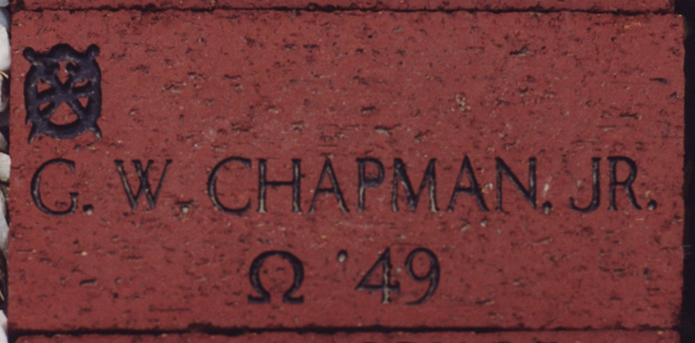 George Chapman Jr's.'49  brick