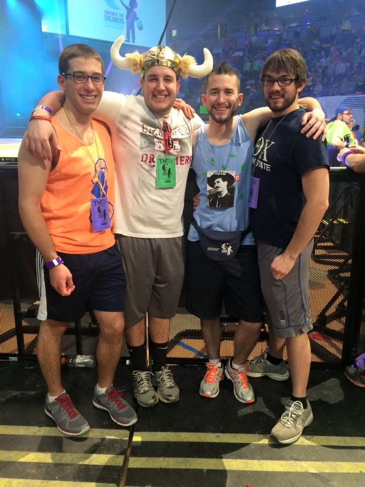 Alex Constable, Jason Jonas, Sam Kulp and Brandon Roberts at THON 2015
