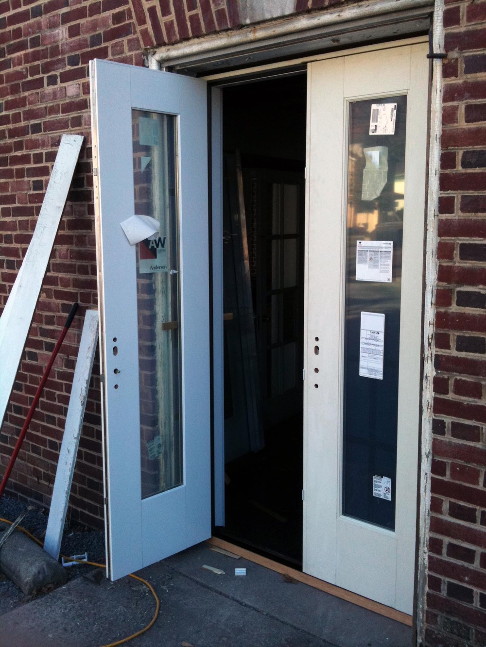 Installed French doors