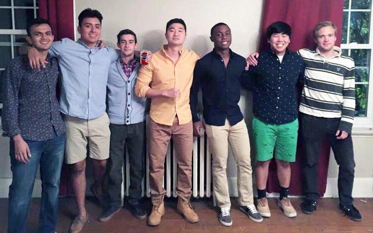 Left to Right Malhar Dave, Bryant Narvaez, Nik Lanum, Brian Hong, Marcus Lim, Tim Lagnese - Fall 2015 Pledge Class