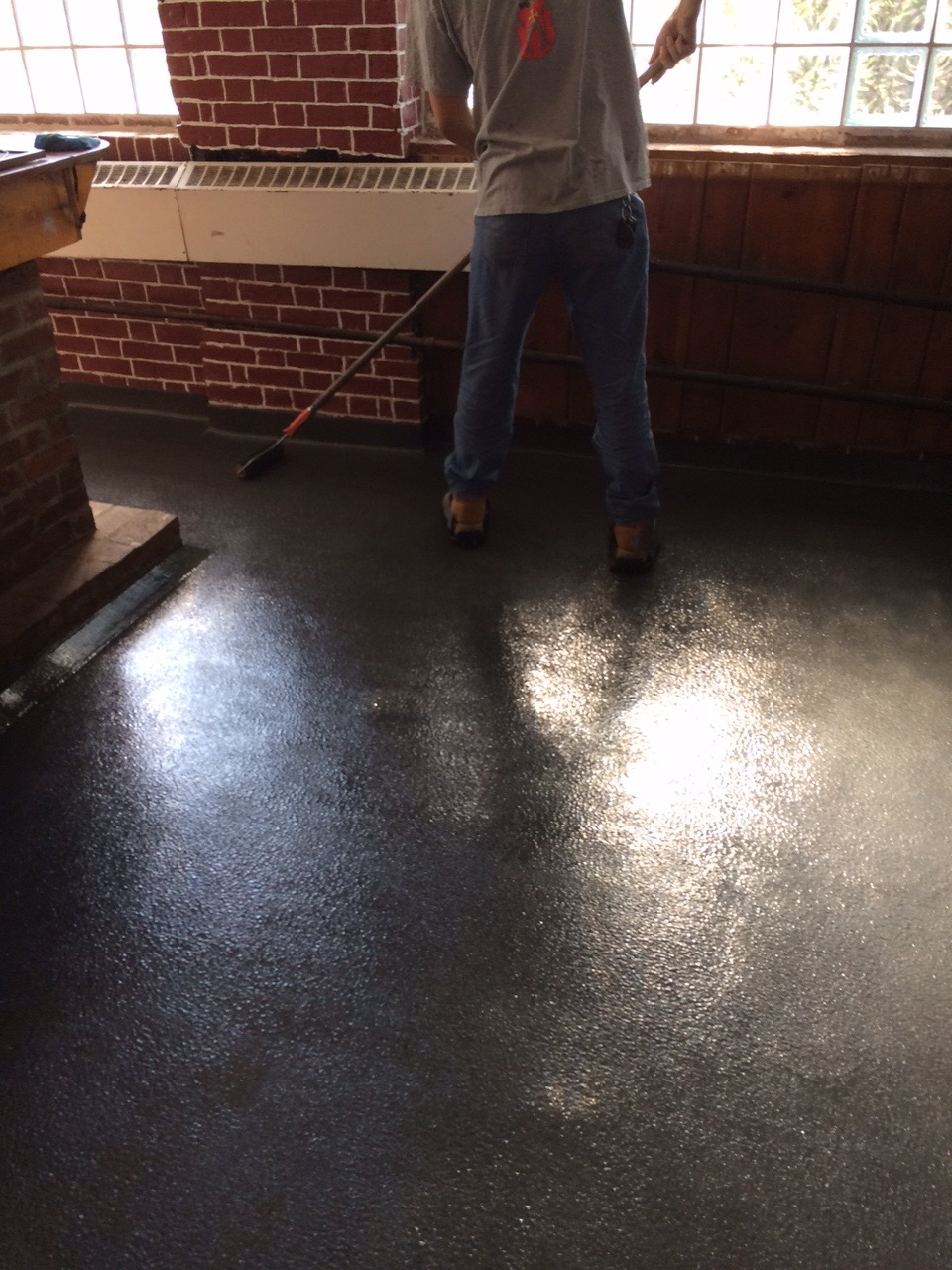 Bar floor resurfaced during the summer 2015
